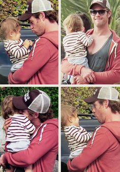Chris Hemsworth and daughter, India Rose