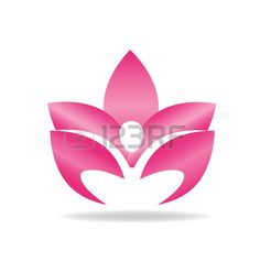 Lotus pink figure logo vector image Stock Vector