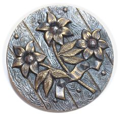 Button Cut Steels and Brass Flowers  Large by KPHoppe on Etsy