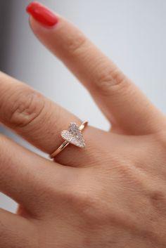 Diamond Pavé Heart Rings