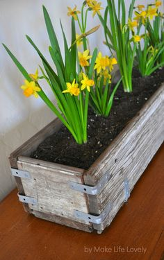 Rustic Wood Planter Box 3 long pieces of wood 2 small pieces for sides 14 L brackets Screws as needed Wooden Planter Boxes Diy, Raised Planter Boxes, Pallet Planter Box, Wood Planters, Pallet Fence, Pallet Wood, Garden Planters, Wood Pallets, Pallet Flower Box