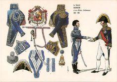 Il generale Baciocchi con un suo ufficiale di ordinanza, Etat Major, French Army, French Revolution, Military Weapons, Napoleonic Wars, Military History, Costume, Illustrators, Empire