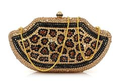 beaded leopard bag