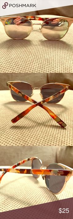 Rose gold sunglasses Rose gold sunglasses, no brand. Bought them but never wore them, perfect for the beach or festival if you don't mind losing them. Look good enough to pass for an expensive brand. Accessories Sunglasses