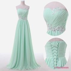 Mint Green Prom Dresses,Sweetheart Evening Gowns,Modest Formal Dresses,Beaded Prom Dresses,2018 Fashion Evening Gown,Corset Evening Dress PD20185155