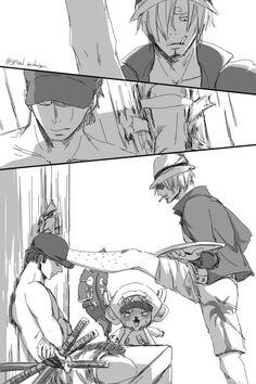 One Piece, Straw Hat Pirates, Zoro, Sanji, Chopper