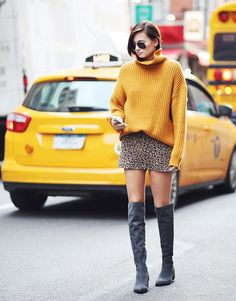 And again sweater and boots