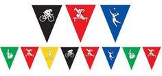 Summer Games Pennant Banner