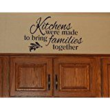 Wall Decor Plus More WDPM3186  Kitchens Were Made To Bring Families Together Kitchen Wall Decal Quote, 23x14 , Black