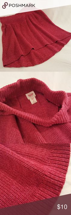 Sweater Skirt Pink knit high-low sweater Skirt Mossimo Supply Co Skirts High Low