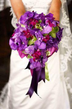 Vanda, Cymbidium and Dendrobium Orchid Bouquet