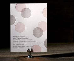 Polka Stripe by Erin Jang is simple, modern and unique—a letterpress wedding invitation with a fun, contemporary personality.