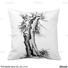 Tree Series #9 Throw Pillows