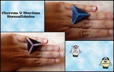 Churras y Merinas Manualidades: Anillo Triángulo o Piramide de Miyuki. Tutorial.