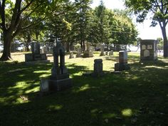 Oshawa's Port Oshawa Pioneer Cemetery.  Currently located on Bonnie Brae Point (west end of Lakeview Park); was located east of the harbour until 1975 when it was moved.  This is considered to be Oshawa's oldest cemetery