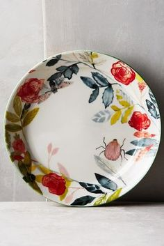 Climbing Rose Side Plate - anthropologie.com #anthrofave