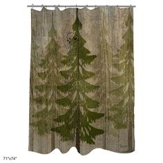 Rustic Lodge Forest Country Pines Shower Curtain Log Cabin Mountain Home Decor  #TBOV #RusticMountainCabinForest