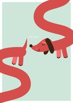 Sausage dog Illustration - Google 搜尋