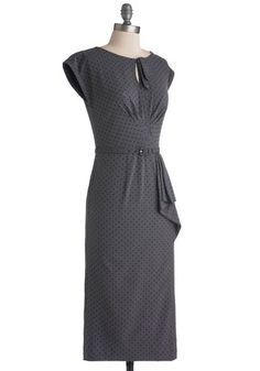 Once and For All Dress in Charcoal, #ModCloth