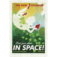 New Colonies Poster by AMy Martin, all proceeds benefit 826 LA