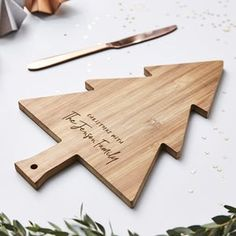 Christmas Personalised Wooden Chopping Board