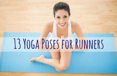 Adding these simple yoga poses to your post-run stretching routine can help you prevent soreness and run injury-free. Stretches For Runners, Yoga For Runners, Runners Stretch, Physical Fitness, Yoga Fitness, Fitness Tips, Fitness Band, Easy Yoga Poses, Yoga Poses For Beginners