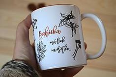 slovakia grandma babička babka hrnček cup mug bylinky liek Mugs, Business, Tableware, Dinnerware, Tumblers, Tablewares, Store, Mug, Business Illustration
