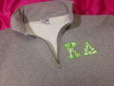 Kappa Delta 1/4 Zip Lilly Sweatshirt in Size by GreekCreationsByDi