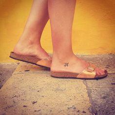 "116 Likes, 2 Comments - @leonie_hoops on Instagram: ""In love with this Tattoo #travel#valletta#malta#malta2015#Tattoo#traveltattoo#birkenstock#loveit"""