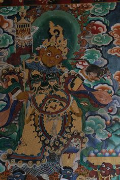Intricate Thanka Art adorns the walls of the monasteries.