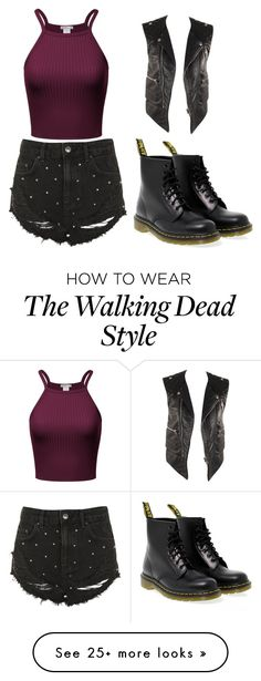 """""""walking dead"""" by makennatomety on Polyvore featuring Topshop, Dr. Martens and Balenciaga"""