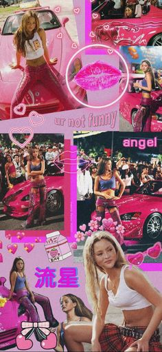 Aesthetic Pastel Wallpaper, Aesthetic Wallpapers, Aoki Devon, Fast And Furious Letty, Rapper Wallpaper Iphone, Suki, Early 2000s Fashion, Bad Girl Wallpaper, Collage Background