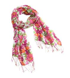 This lightweight scarf will be the perfect accessory for a stylish Mom. | Fringe Scarf in Lilli Bell, $38.00 Vera Bradley