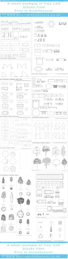 10 Free AutoCAD Block Websites First In Architecture Cad Blocks SelectionFirst In Architecture Cad Blocks Selection Croquis Architecture, Architecture Student, Architecture Plan, Architecture Details, Landscape Architecture, Architecture Symbols, Interior Architecture Drawing, Architecture Diagrams, Architecture Interiors