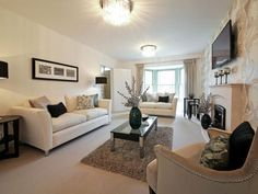 Living Room Decor Showhome Glamour