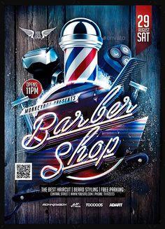 Barbershop Flyer Template Free Lovely Flyer Barber Shop Konnekt In 2019 Barber Poster, Barber Logo, Barber Shop Interior, Barber Shop Decor, Flyer Design Templates, Flyer Template, Barbershop Design, Barbershop Ideas, Barber Tattoo