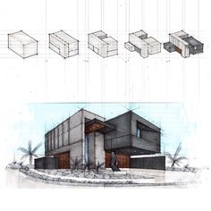 Architectural Sketches by ________________________________ . Use tag to… Croquis Architecture, Interior Architecture Drawing, Landscape Architecture Model, Architecture Portfolio Layout, Architecture Design, Architecture Drawing Sketchbooks, Conceptual Architecture, Architecture Concept Drawings, Architecture Wallpaper