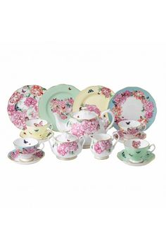 I just love this beautiful tea set.