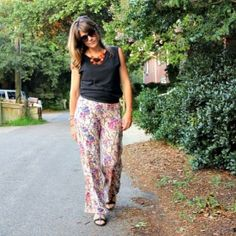 How to sew an easy pair of knit pants, that you can make wide leg, straight, flair, even gaucho! Perfect for breezy Summer nights.
