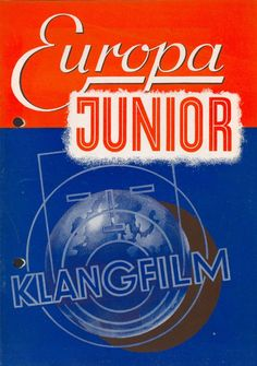 German sound system brochure for Klangfilm Europa Junior.
