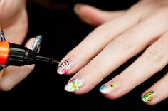 Christopher Kane spring 2012 manicure style