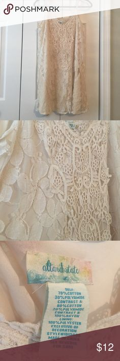 Altar'd State lace dress Lace Altar'd State dress. Size large. Ivory color Altar'd State Dresses