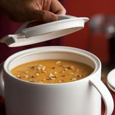Roasted Pumpkin-Apple Soup and 20 Healthy Pumpkin Recipes - MyNaturalFamily.com #pumpkin #recipes