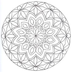 [Ecole bilingue de Baillargues] - Dessins géométriques - Mandalas à colorier - Mandala n°9