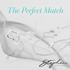 This classic silver bracelet and necklace duo will make the perfect gift for your girlfriend, sister, mother or grandmother. It exudes ageless elegance. Come in store or shop these styles online at http://www.stephensjewellers.com.au/brand/stephens?category=&stone_type=&metal_type=&search_query=&gender=&promotion= #Stephensjewellers #Jewellery #Gold #Rings #Aquamarine http://www.stephensjewellers.com.au/