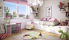Best déco chambre fille grise rose poudré images