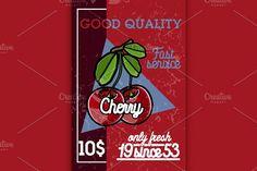 Color vintage fruit banner by Netkoff on @creativemarket