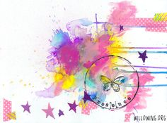 Life Book 2014 - Week 6 - Spray Ink Love with Tamara Laporte - willowing & friends