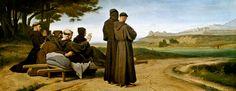 Léon Benouville (1821-1859) - De stervende Sint Franciscus van Assisi - OLieverf op linnen - 93 x 240 cm - 1853 - Musée D'Orsay