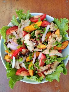 Grilled chicken and plantain salad